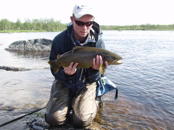 Martin med fin fisk